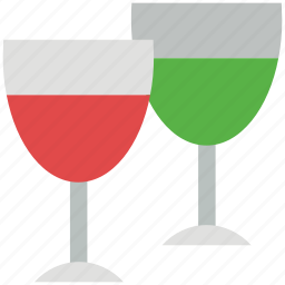 alcohol, appetizer drink, beverage, drink, glasses, wine icon