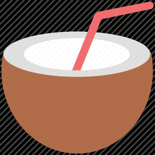 beverage, coconut, coconut water, drink, healthy, straw icon