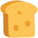 bakery food, bread slice, breakfast, food, spongecake, toast icon