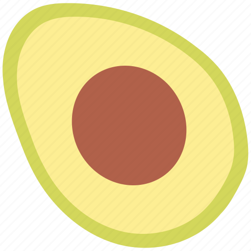alligator pear, avocado, food, fruit, half avocado, healthy food icon