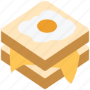 bread, breakfast, eating, egg, food, sandwich icon