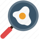 breakfast, egg, food, fried egg, fryingpan, morning icon