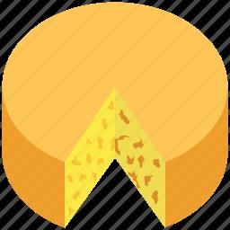 bakery food, cake, cheese wheel, dessert, spongecake icon