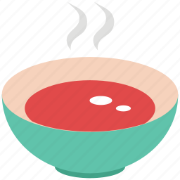 bowl, food, hot food, meal, soup, steamed icon
