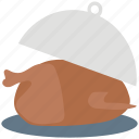 chicken, food, meat, roast, serving platter icon