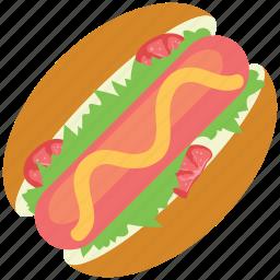 hotdog burger, hotdog sandwich, sausage, sausage sandwich icon