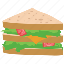 bread, breakfast, club sandwich, food, sandwich icon