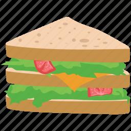 bread, breakfast, club sandwich, food, sandwich icon