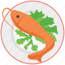 cooked, fish, food, grilled, meal, seafood icon