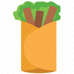 burritos, food, mexican food, taco, tortilla, wraps icon