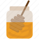 food, healthy food, honey, honey dipper, jar icon