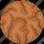 bakery food, biscuit, brownie, cookie, cracker, food icon