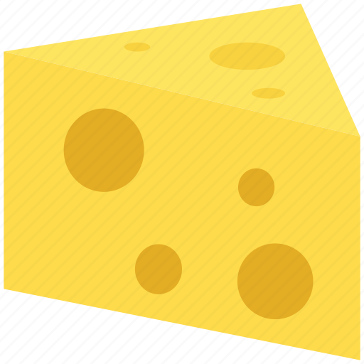 cheese, cheese slice, dairy food, swiss cheese icon