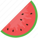 diet, food, fruit, nutrition, watermelon, watermelon slice icon