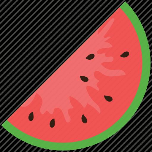 diet, food, fruit, nutrition, watermelon, watermelon slice icon