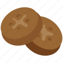 bakery food, biscuits, brownies, cookies, crackers, food icon