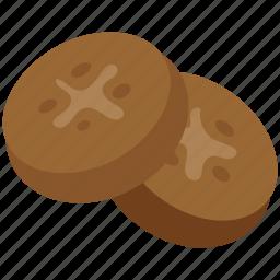 bakery food, biscuits, brownies, cookies, crackers, food icon