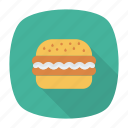 burger, eat, fastfood, junk icon