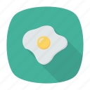 breakfast, eat, egg, omelette icon