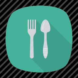 fork, kitchen, resturant, spoon icon