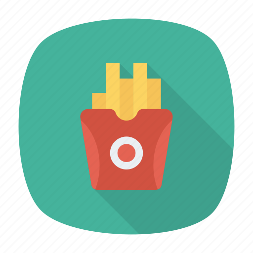 chips, french, fries, junk icon
