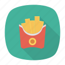 chips, food, fries, junk icon