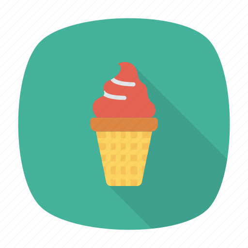cone, cream, ice, muffin icon