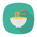 bowl, eat, food, noodle icon