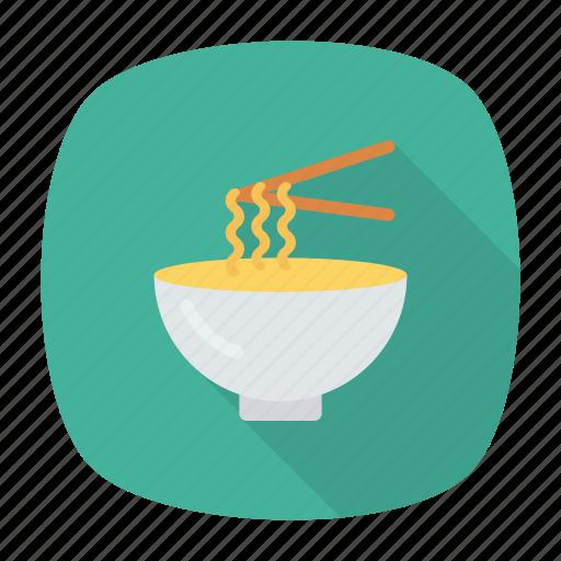 bowl, eat, food, noodle icon