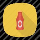 bottle, ketchup, sauce, tomato icon