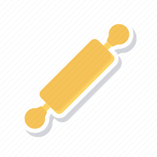 cooking, kitchen, pin, roller icon