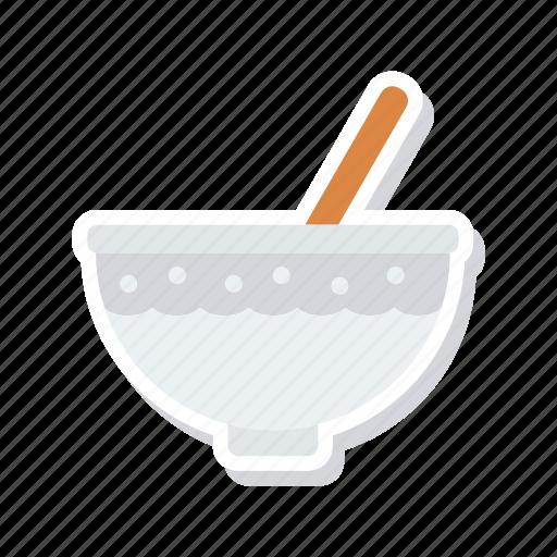 bowl, eat, mixing, soup icon