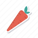 carrot, eat, healthy, vegetable icon