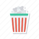 cup, food, popcorn, snack icon