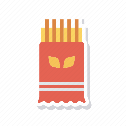 chips, french, fries, jucnk icon
