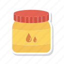 bottle, breakfast, fruit, jam icon