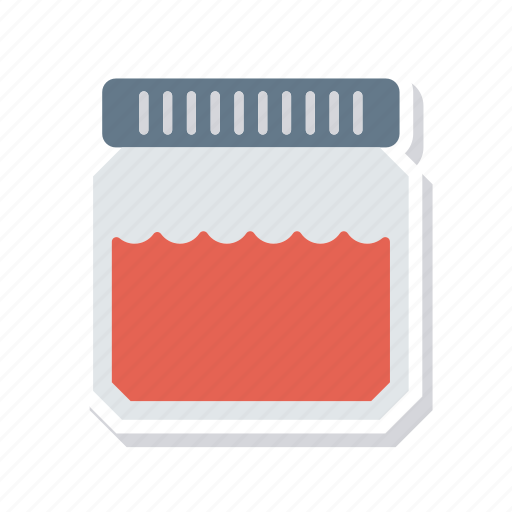 bottle, food, jam, jar icon