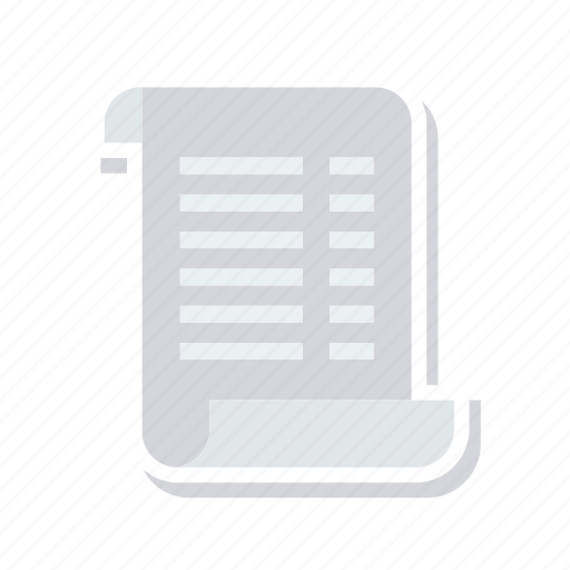 document, flyer, menu, page icon