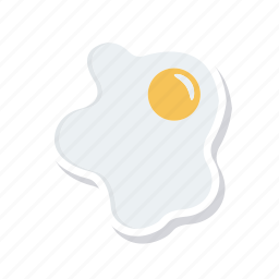 egg, fried, omelette, yolk icon