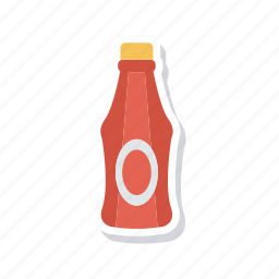 bottle, ketchup, sauce, tomato icon