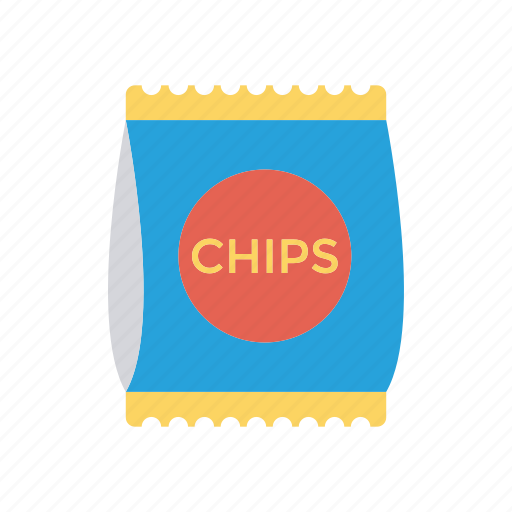 chips, fries, meal, packet icon