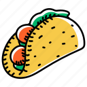 fast food, chicken fajita, edible, meal, chicken