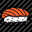 nigiri, sushi, japanese sushi, seafood, japanese meal
