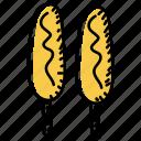 snacks, corn dogs, food, corn sticks, edible