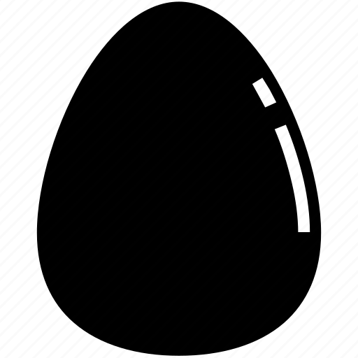 easter, egg, food, glyph icon
