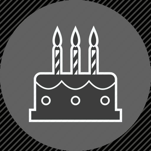 bakery, birthday, cake, celebration, cream, food, party icon