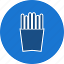 chips, fingerchips, frenchfries, fries icon