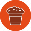 corn, entertainment, movie, popcorn, snack icon