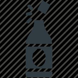 bottle opening, champagne, champagne bottle, drink bottle, uncork champagne icon