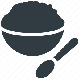 food, food bowl, meal, rice bowl, spoon icon